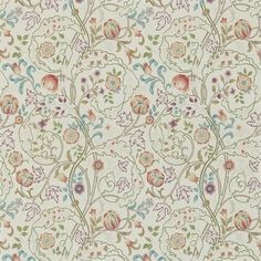 A wonderful design from the Morris & Co collection in russet and taupe. 'Mary Isobel' shows scrolling acanthus leaves and flowers. From the new William Morris Archive III collection, buy online today. William Morris Wallpaper, Morris Wallpapers, Linen Wallpaper, Print Wallpaper, Wallpaper Roll, Rose Wallpaper, Wallpaper Decor, Wallpaper Online, History