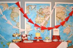 Airplane Party Centerpieces | 32. From Cake-a-Roo via Kara s Party Ideas: Boy s Aviator Themed ...
