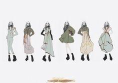 Fashion Sketchbook - fashion illustrations; line up drawings; fashion portfolio // Gemma Marshall-Savage