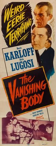 The Vanishing Body 1934 R1953 original vintage US insert film movie poster