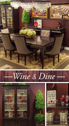 Fitting with this year's Pantone Color of the Year, Marsala, our Wine and Dine trend is full of rich warm reds.
