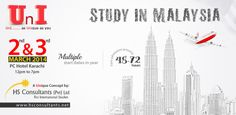 "Study In Malaysia  Study Abroad Opportunities Event: ""2nd and 3rd March 2014 at PC Hotel Karachi""  #Study In #Malaysia #Pchotel #Karachi #Lahore  Get Registered at: www.uniasunique.com"
