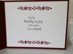 Card making made easy with Stampin Up Products Christmas Diy, Christmas Cards, Creative Cards, Stampin Up Cards, Note Cards, Make It Simple, Birthday Cards, Card Making, Place Card Holders
