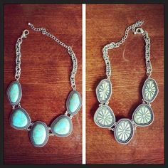Premier Designs Jewelry offers two great looks with one necklace!!  Boho chic switches from a great turquoise look to stunning silver.  Earrings also available... and they reverse too!  See other great ideas online at http://bedazzledbydeb.mypremierdesigns.com.  Password:  bling (all lowercase)