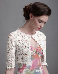 Crochet  bolero PATTERN detailed tutorial for by STYLEcrocheting