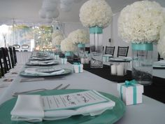 Breakfast At Tiffany's Themed Baby Shower.