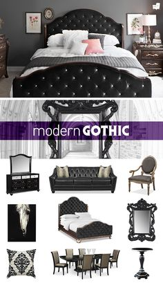 Add a little gothic to your glam with our Modern Gothic collection only from American Signature Furniture.