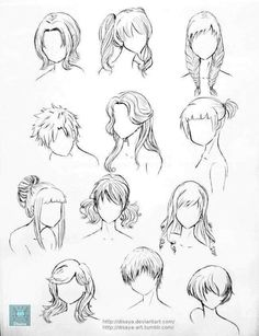 Set Of Teenage Girl Hairstyles Stock Vector