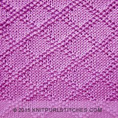 King Charles Brocade is reversible and would also make a great design for a coordinating afghan/blanket. Knit Purl Stitches, Knitting Stiches, Knitting Charts, Knitted Washcloth Patterns, Dishcloth Knitting Patterns, Beginner Knitting Patterns, Knitting Designs, Free Baby Blanket Patterns, How To Purl Knit
