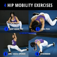 These exercises provide a deep stretch, unlocking your hip mobility. Why Stret… These exercises provide a deep stretch, unlocking your hip mobility. Why Stretching Won't Make You Flexible – FREE PDF — Hip Mobility Exercises, Stretches For Flexibility, Hip Stretches, Flexibility Workout, Stretching Exercises, Glute Activation Exercises, Increase Flexibility, Hip Workout, Gym Workouts