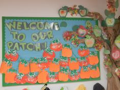 Welcome To Our Patch. Pumpkins and Apples