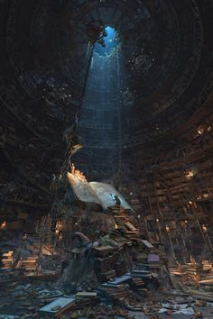 steampunktendencies:Master of the books by Waldemar Bartkowiak