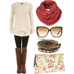 sweater leggings and boots