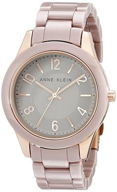 Amazon.com: Anne Klein Women's AK/1962RGTP Rose Gold-Tone Watch with Ceramic Link Bracelet: Watches