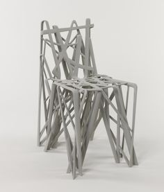 Solid C2 Chair by Patrick Jouin, 2004. Made on a 3-D Printer!!!  Technology has always changed design and this is just another exciting manufacturing technique!