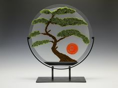 With details that make the Bonsai Tree pop right out of the glass, making a statement anywhere you display it. Bonsai Tree by Patti & Dave Hegland: Art Glass Sculpture available at www.artfulhome.com
