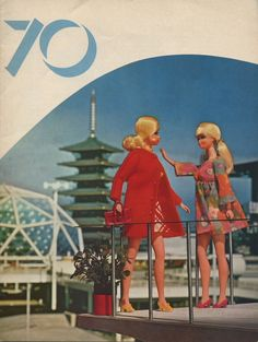 Barbie and hot friend at the Japan World Expo 1970. The Future is now according to these images.