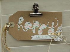 Hello You Thinlit Big Shot Die 'happy' tag from Stampin' Up! 2015 Occasions catalog.