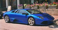 Blue Lamborghini Murcielago