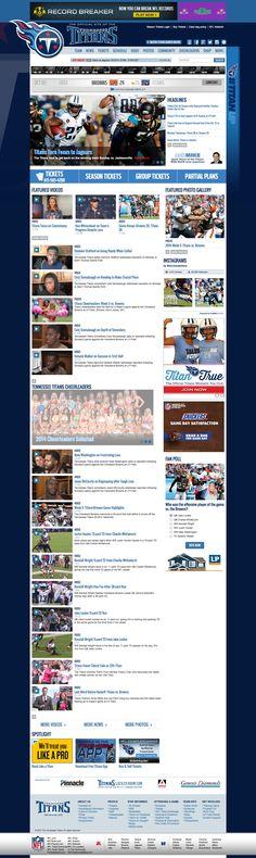 NFL Look Book from @seancallanan - Tennessee Titans #TennesseeTitans #sportsbiz #digisport