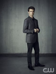 The Vampire Diaries -- Pictured: Daniel Gillies as Elijah -- Image Number: VD4_Elijah_Grey_1627r.jpg -- Photo: Justin Stephens/The CW -- © 2013 The CW Network, LLC. All rights reserved.