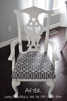 Living Beautifully...One (DIY) Step At A Time: fabric: Bella Porte in Charcoal by Dwell Studio