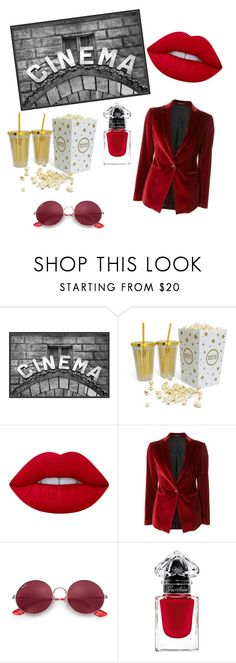 """""""Cinema"""" by beauty-within101 on Polyvore featuring Pottery Barn, Lime Crime, Tagliatore and Ray-Ban"""