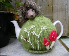 Hedgehog Tea Cosy and Egg Cosy Pattern by Lindsay Mudd