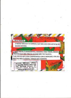 """""""O que é Arte? O que é Arte Postal?"""" - verso (Brasil) (What is Art? What is Mail Art?) by Wilson Antonio"""