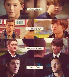 Sam and Dean through the years