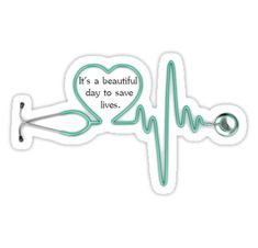 Grey's Anatomy quote with a stethoscope. Great for nurses and doctors!! • Also buy this artwork on stickers and phone cases.