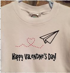Fun Valentines day shirt for the little guys in your life. The shirt is a boutique quality, 100% cotton interlock in white. It is available