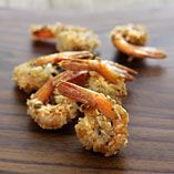 Coconut shrimp (recipe in Finnish)