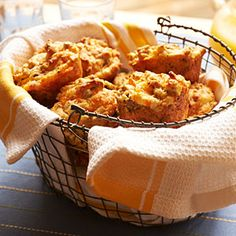 Sausage-Cheese Muffins. I'm using chicken sausage, a mulit-grain baking mix and an all natural cheese soup.
