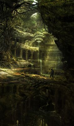 Raquesh picked his way across the thin, crumbling bridge, taking in the overgrown ruins. A sound rustled nearby...