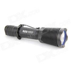 Olight M22 1-LED 950lm 4-Mode High Power Flashlight Set - Black (1 x 18650 / 2 x CR123A). The M22 Warrior is a high-output tactical flashlight with a tail switch and a family of optional tactical accessories. The newest, highly efficient CREE XM-L2 LED cuts through the dark, throwing an absolutely blazing 950 lumens out to a thousand feet. Powered by two CR123A batteries, the M22 features three brightness levels and a strobe mode, easily set by the mode selector built into the head. The tail…
