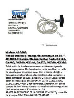 Modelo 42.0809-Recoil Rope-Starter Handle