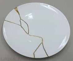 Kintsugi plate #5 Chef Morimoto's restaurant in Disney, Florida