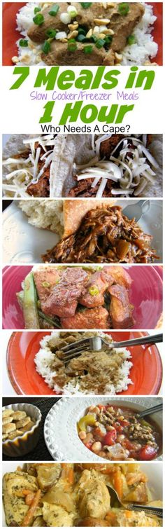 7 Meals in 1 Hour {slow cooker/freezer meals} Who Needs A Cape?