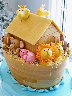 Bolos Decorados para Festa com o Tema Arca de Noé