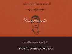 Mademoiselle Script designed by ARITRA DAS, and share by Nautica Free Typeface, Script Typeface, Typographie Fonts, Modern Typeface, Commercial Use Fonts, Free Fonts Download, Font Free, Letter Form, Cool Fonts