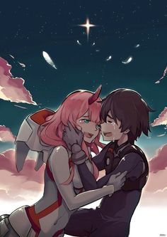 #Anime #Darling_in_the_FranXX #Heroes #Zero_Two × #Hiro