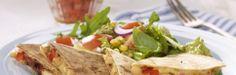 Oppskrift på Kyllingquesadillas Quesadilla, Guacamole, Tacos, Mexican, Ethnic Recipes, Food, Quesadillas, Essen, Meals