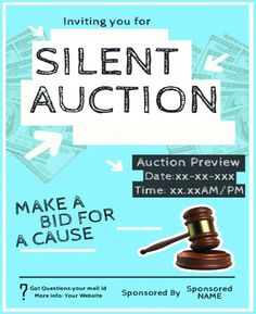 silentauctionfundraiser flyer silent auction flyers pinterest