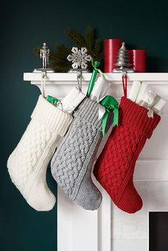 Aran Christmas Stocking Knitting Pattern Eidheann by highcastle ...