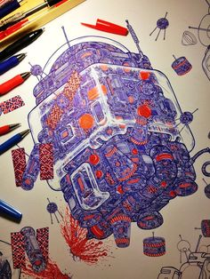 You'll Never Believe That These Are Ballpoint Pen Drawings