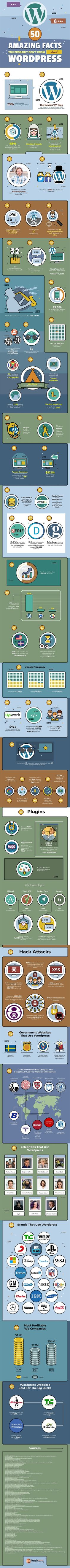 Infographics : Illustration Description 50 Surprising Facts You Probably Don't Know About WordPress Leaflet Distribution, How To Start A Blog, How To Find Out, Wordpress Org, Software, Blogging, Web 2.0, Seo Tips, New Things To Learn