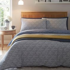 abc09bf3 Blue 'Stamp' bedding set Superking Bed, Debenhams, Home Collections, King  Beds