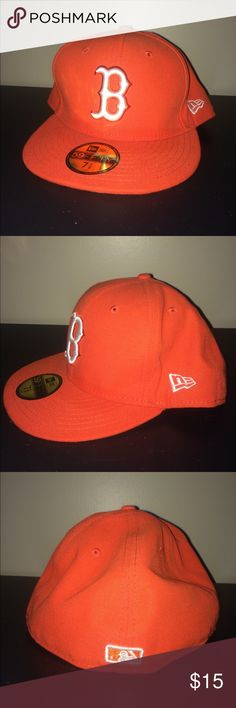 New era Boston Red Sox fitted hat men's sz 7 5/8 New era Boston Red Sox fitted hat men's size 7 5/8. Used but in good condition no stains holes or tears. Please look closely at all pictures before purchasing. New Era Accessories Hats
