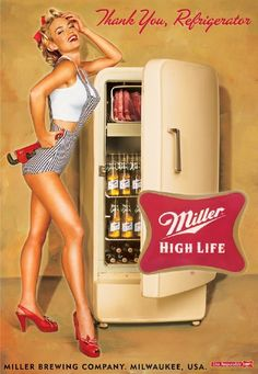 I must admit that I love the wall of gold when i open my refrigerator.  Nothing like a Miller in a garbage can of ice on a hot summer day.